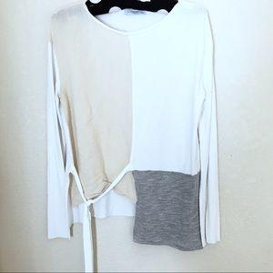 Zara Collection Gray & White Top